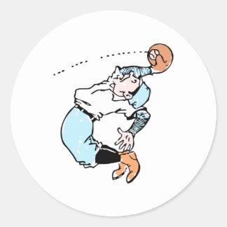 Fly Ball Classic Round Sticker