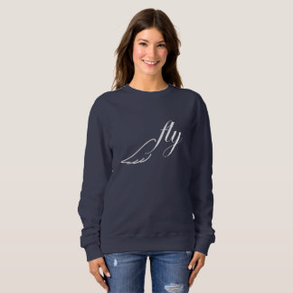 Fly Birds wing white and navy sweater