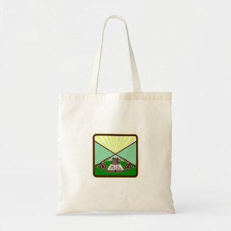 Fly Box Crossed Rod Mug Square Retro Tote Bag