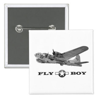 Fly Boy Flying Fortress Button