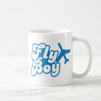 FLY BOY with aeroplane jet Basic White Mug