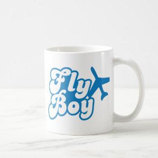 FLY BOY with aeroplane jet Basic White Mug