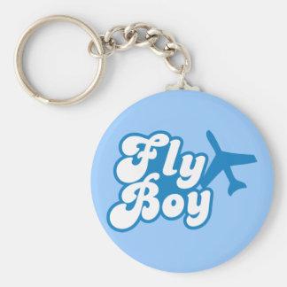 FLY BOY with aeroplane jet Key Chains