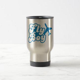 FLY BOY with aeroplane jet Travel Mug