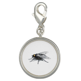 Fly Buddy round charm