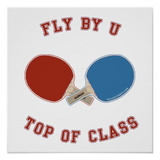 Fly By Ping Pong Posters