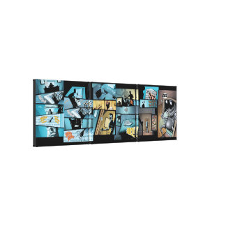 Fly Comic Canvas Print