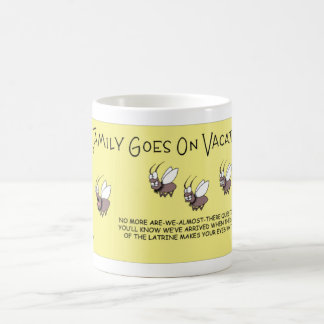 Fly family goes on vacation coffee mug