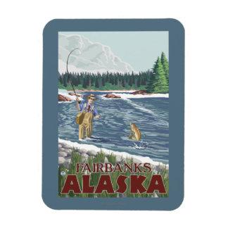 Fly Fisherman - Fairbanks, Alaska Rectangular Photo Magnet