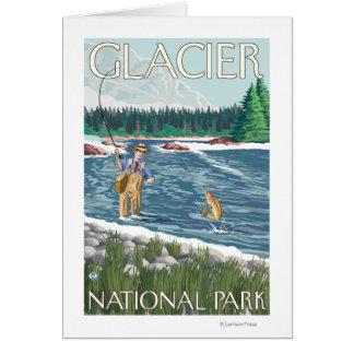 Fly Fisherman - Glacier National Park, MT Card