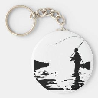 Fly Fisherman Key Ring