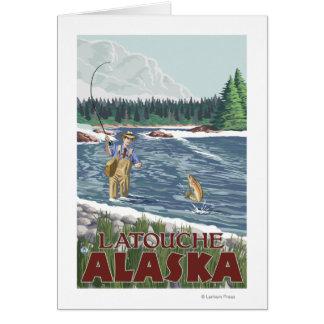 Fly Fisherman - Latouche, Alaska Cards