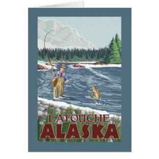 Fly Fisherman - Latouche, Alaska Greeting Card