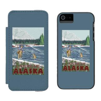Fly Fisherman - Latouche, Alaska Incipio Watson™ iPhone 5 Wallet Case