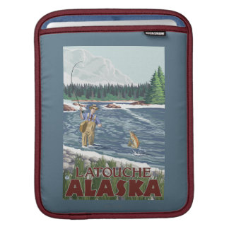 Fly Fisherman - Latouche, Alaska Sleeves For iPads