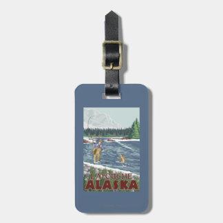 Fly Fisherman - Latouche, Alaska Travel Bag Tag