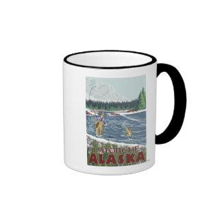 Fly Fisherman - Latouche, Alaska Coffee Mugs