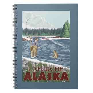 Fly Fisherman - Latouche, Alaska Note Books