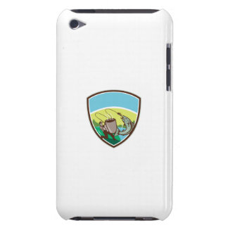 Fly Fisherman Salmon Mug Crest Retro Barely There iPod Covers
