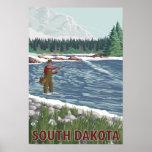 Fly FishermanSouth Dakota Poster
