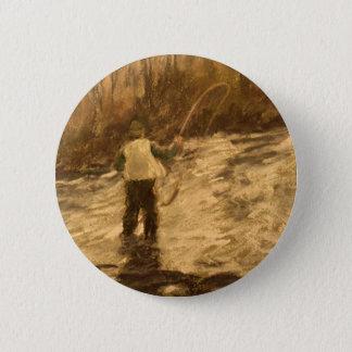 Fly Fishing 6 Cm Round Badge
