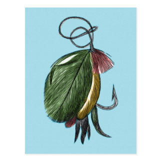Fly Fishing Art Postcard