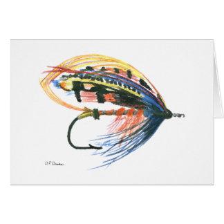 Fly Fishing Blank Greeting Card