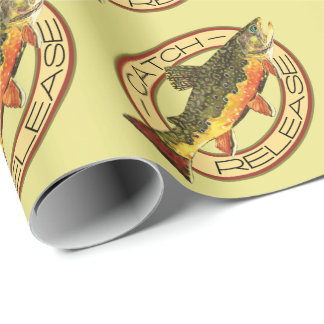Fly Fishing Catch Release Party Wrapping Paper
