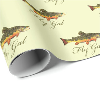 Fly Fishing Fly Gal for Women Wrapping Paper