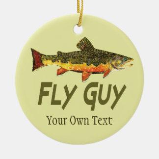 Fly Fishing Fly Guy Man's Ceramic Ornament