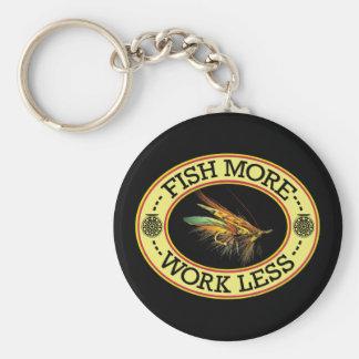 Fly Fishing for Big Salmon Key Ring