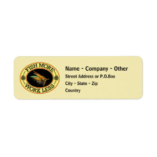 Fly Fishing for Salmon Return Address Label