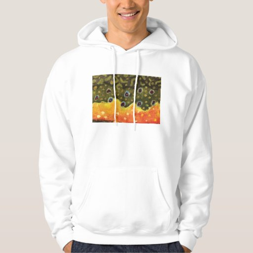 Fly fishing for the brook trout hoodie zazzle for Fly fishing hoodie