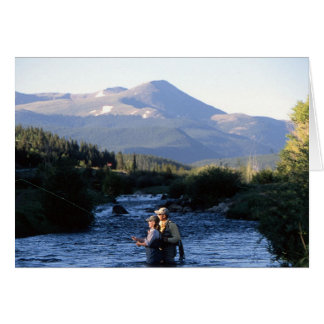 Fly Fishing in the shawdows of Colorado Peaks Card