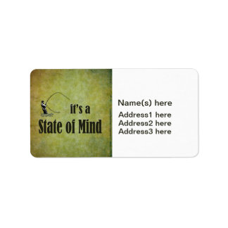 Fly Fishing | It's a State of Mind Address Label
