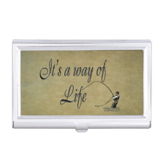 Fly-fishing - It's a Way of Life Case For Business Cards