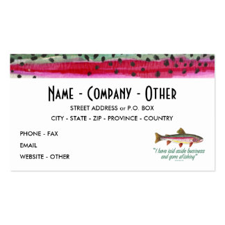 Fly Fishing - Izaak Walton Pack Of Standard Business Cards