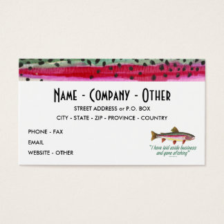 Fly Fishing - Izaak Walton Business Card