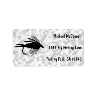 Fly Fishing lure to personalize Address Label