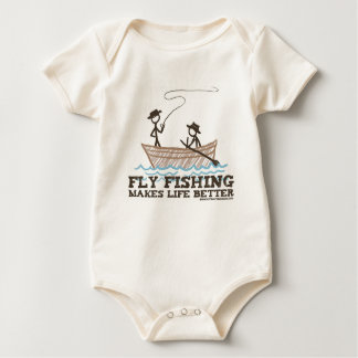 Fly Fishing Makes Life Better Baby Bodysuit