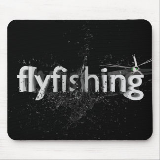 Fly fishing mouse pad