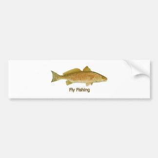 Fly Fishing Redfish Bumper Sticker