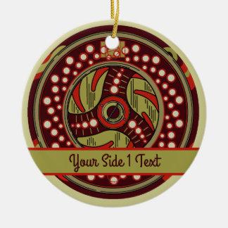 Fly Fishing Reel Christmas Ceramic Ornament