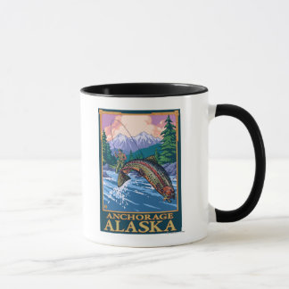 Fly Fishing Scene - Anchorage, Alaska Mug