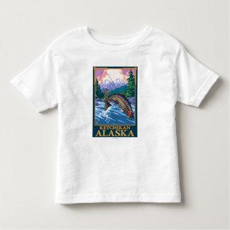 Fly Fishing Scene - Ketchikan, Alaska Toddler T-Shirt