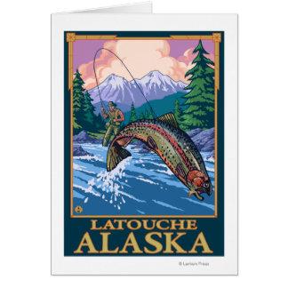 Fly Fishing Scene - Latouche, Alaska Card