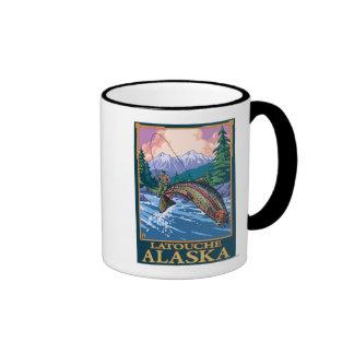 Fly Fishing Scene - Latouche, Alaska Mug
