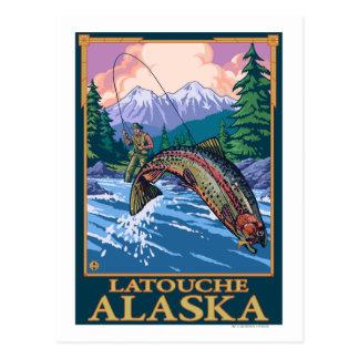 Fly Fishing Scene - Latouche, Alaska Postcard