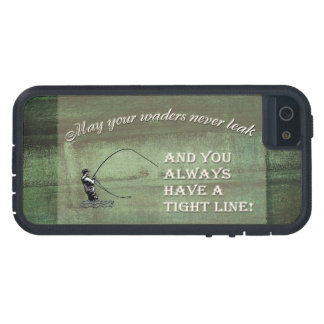 Fly fishing wish: May your waders never leak... iPhone 5 Covers