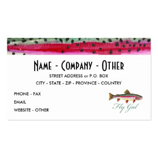Fly Fishing Woman's Pack Of Standard Business Cards